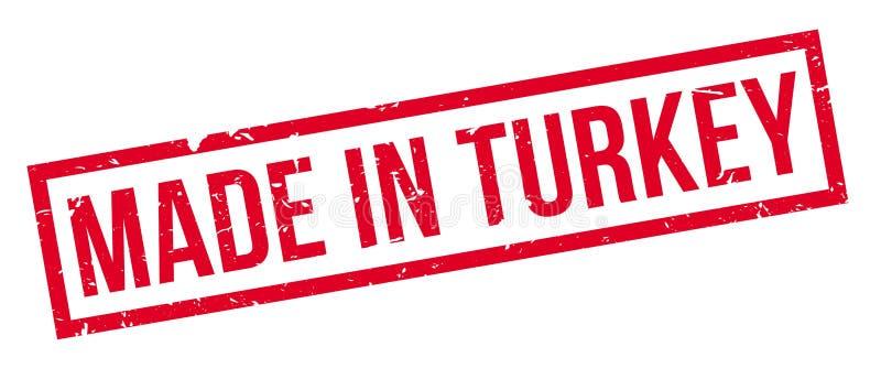 Feito no carimbo de borracha de Turquia imagem de stock royalty free