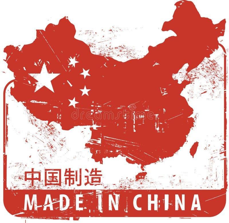 Feito em China ilustração royalty free