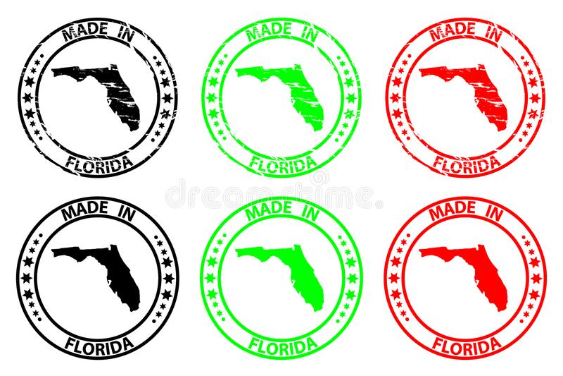 Feito no carimbo de borracha de Florida ilustração royalty free