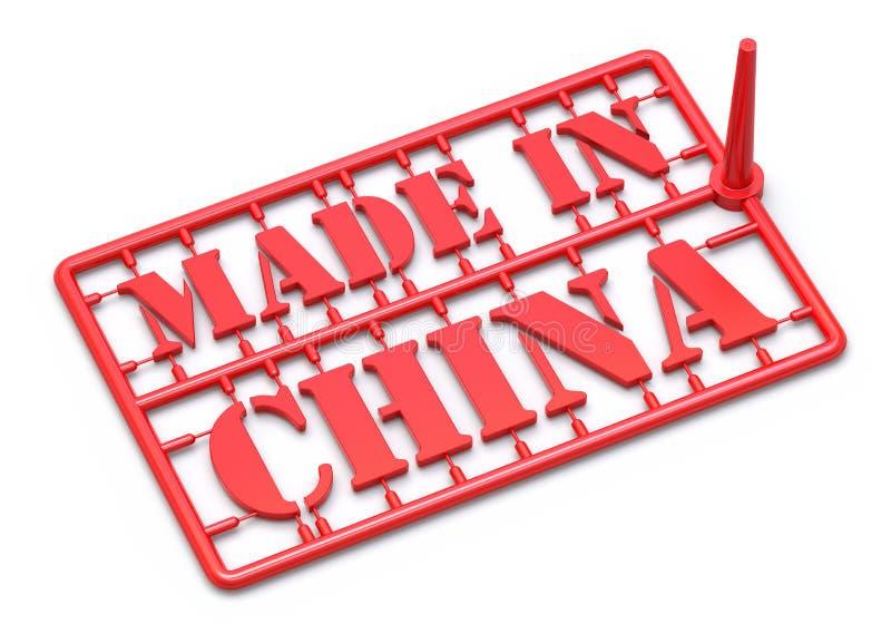 Feito no conceito de China ilustração royalty free