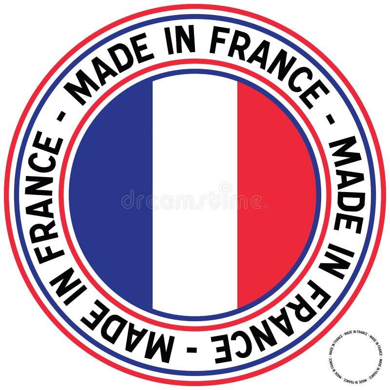 Feito no decalque da circular de France ilustração stock