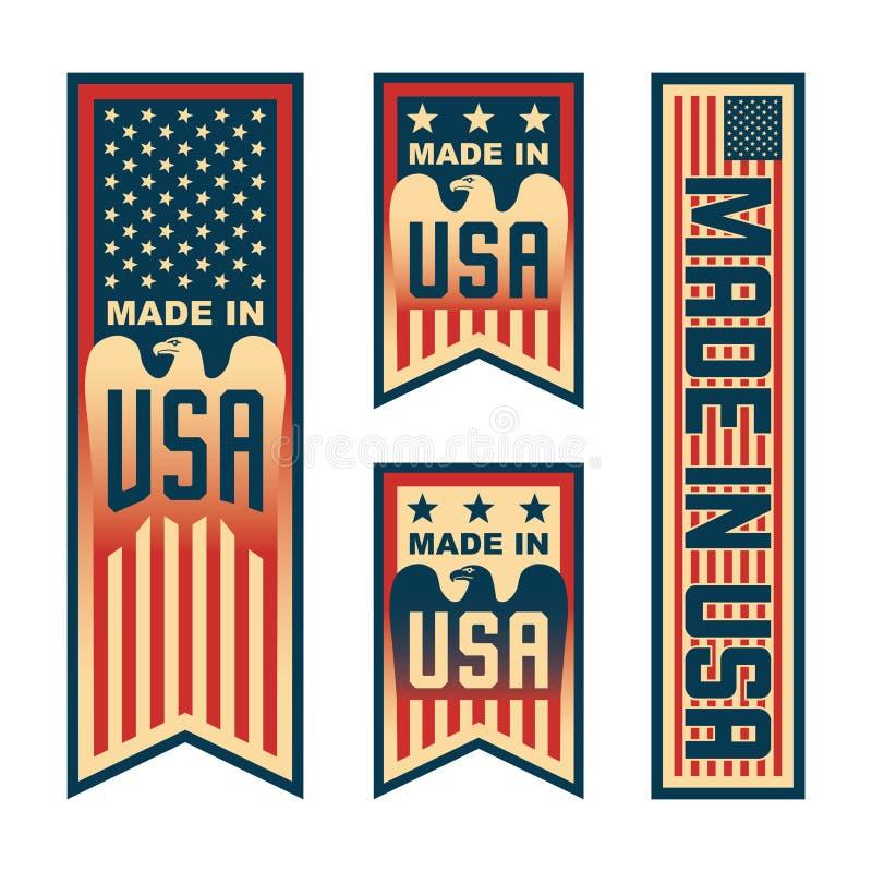 Feito no Estados Unidos da América dos EUA ilustração do vetor