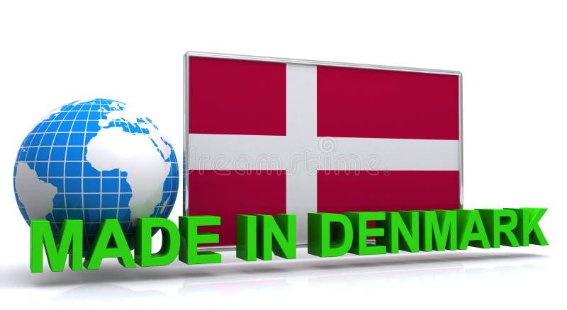 Feito no gráfico de Dinamarca ilustração stock