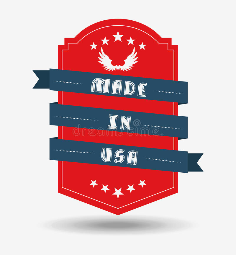Feito no projeto dos EUA ilustração do vetor