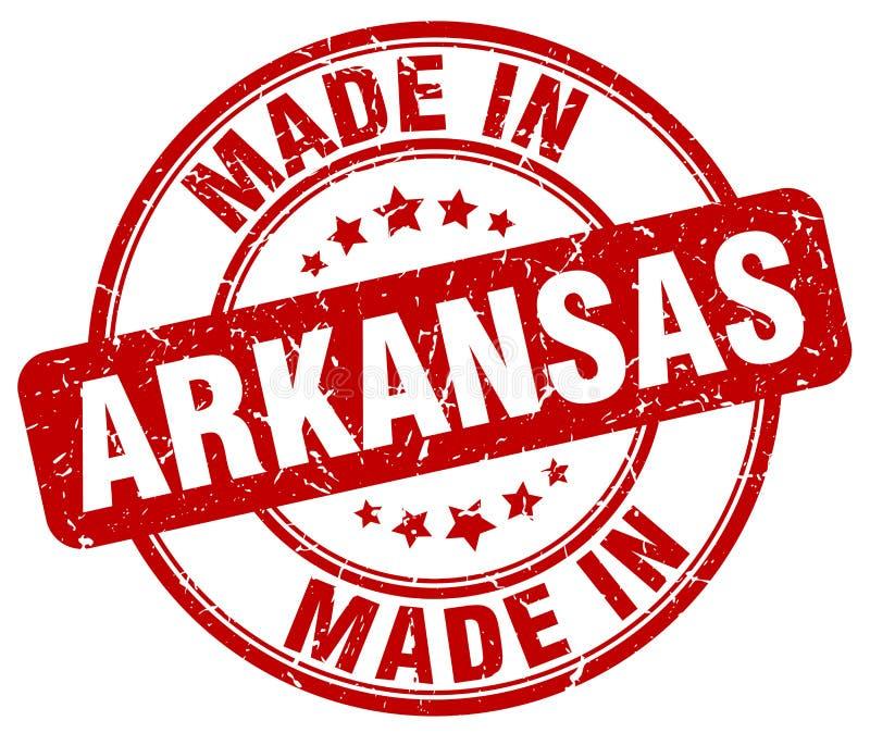 Feito no selo de Arkansas ilustração royalty free