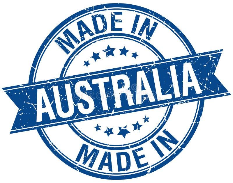 Feito no selo de Austrália ilustração royalty free