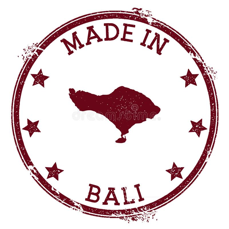 Feito no selo de Bali ilustração royalty free