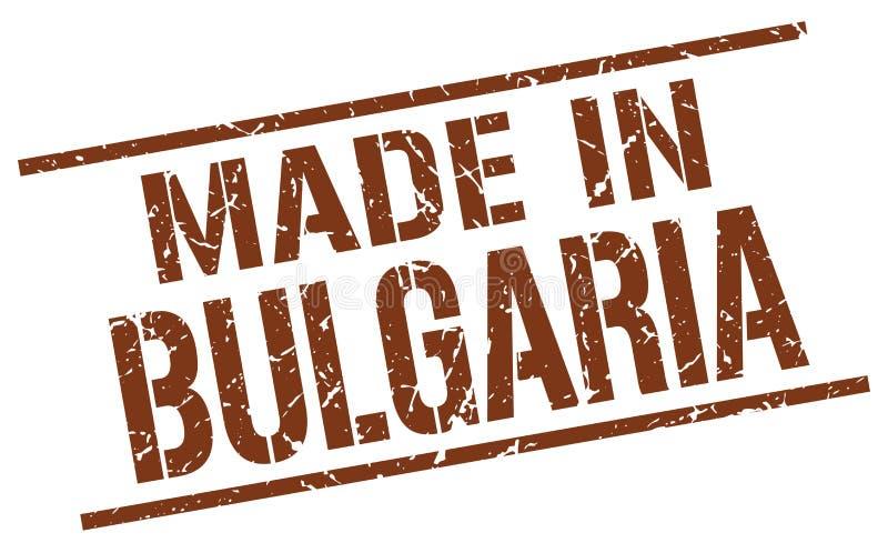 feito no selo de Bulgária ilustração stock