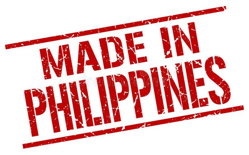feito no selo de Filipinas ilustração stock