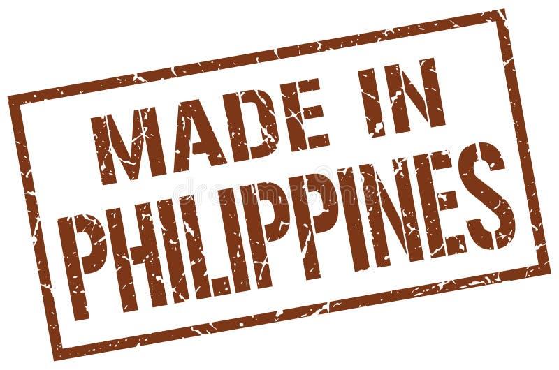 feito no selo de Filipinas ilustração do vetor