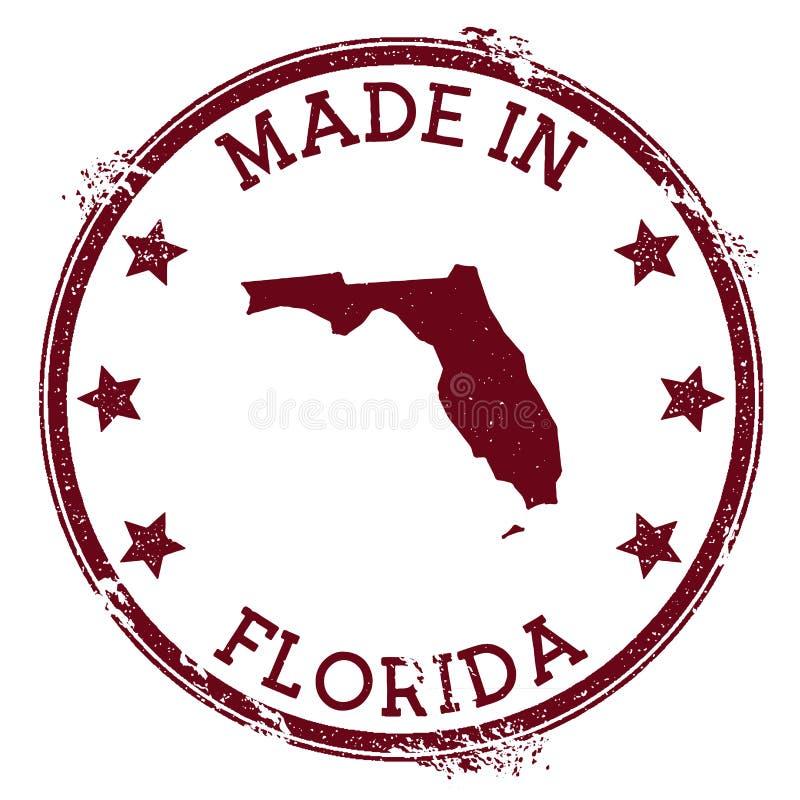 Feito no selo de Florida ilustração stock