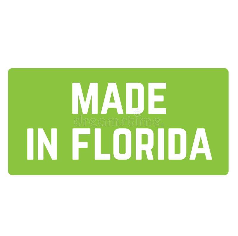 FEITO no selo de FLORIDA no fundo branco ilustração stock