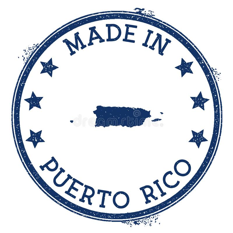 Feito no selo de Porto Rico ilustração royalty free