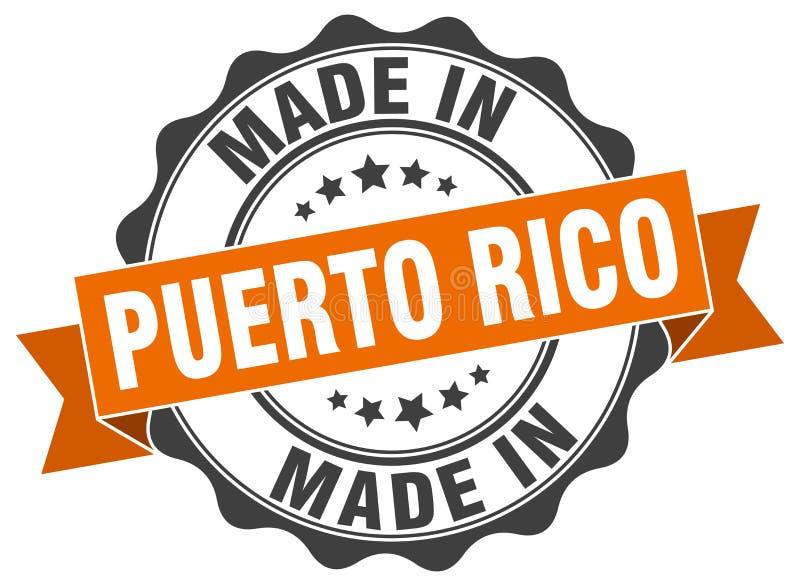 Feito no selo de Porto Rico ilustração do vetor