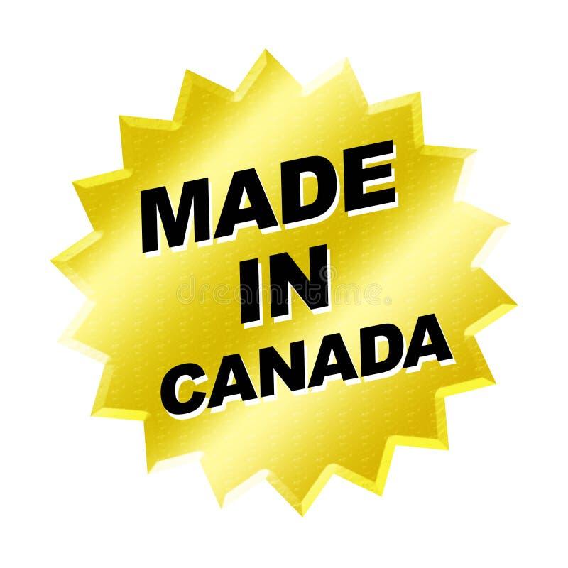 Feito no sinal de Canadá ilustração do vetor