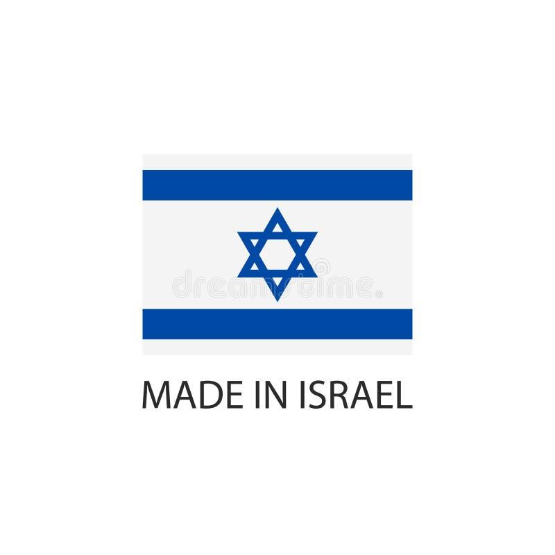 Feito no sinal de Israel ilustração royalty free