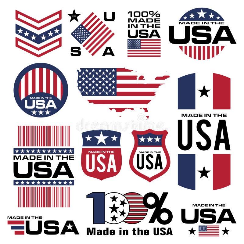 Feito nos EUA ilustração do vetor