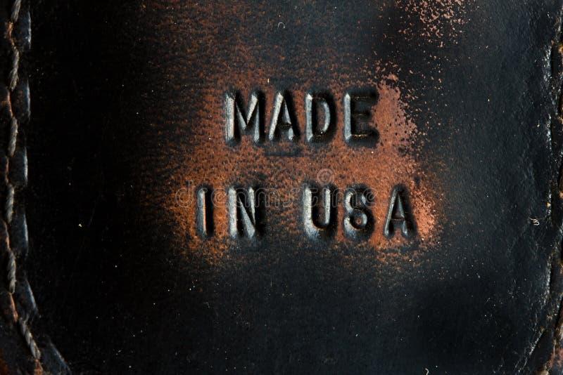Feito nos EUA imagem de stock