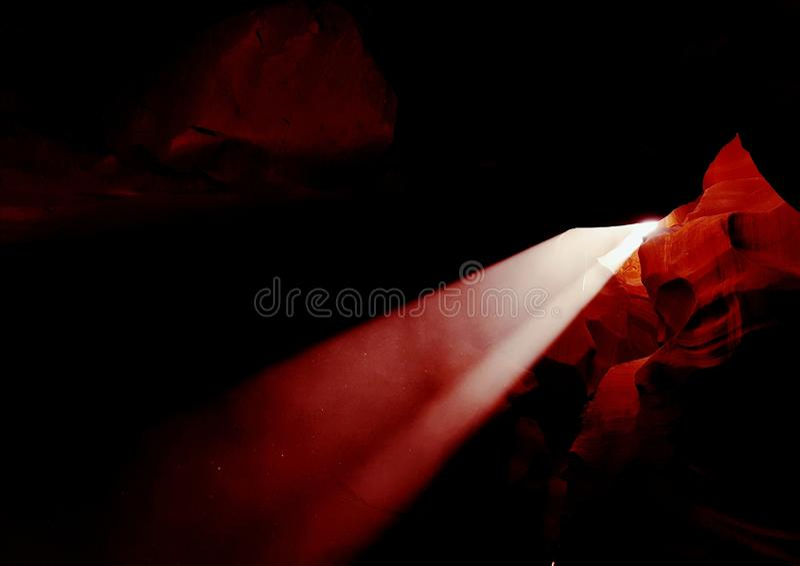 Feixe de Sun com a abertura na garganta superior do antílope, o Arizona fotos de stock royalty free