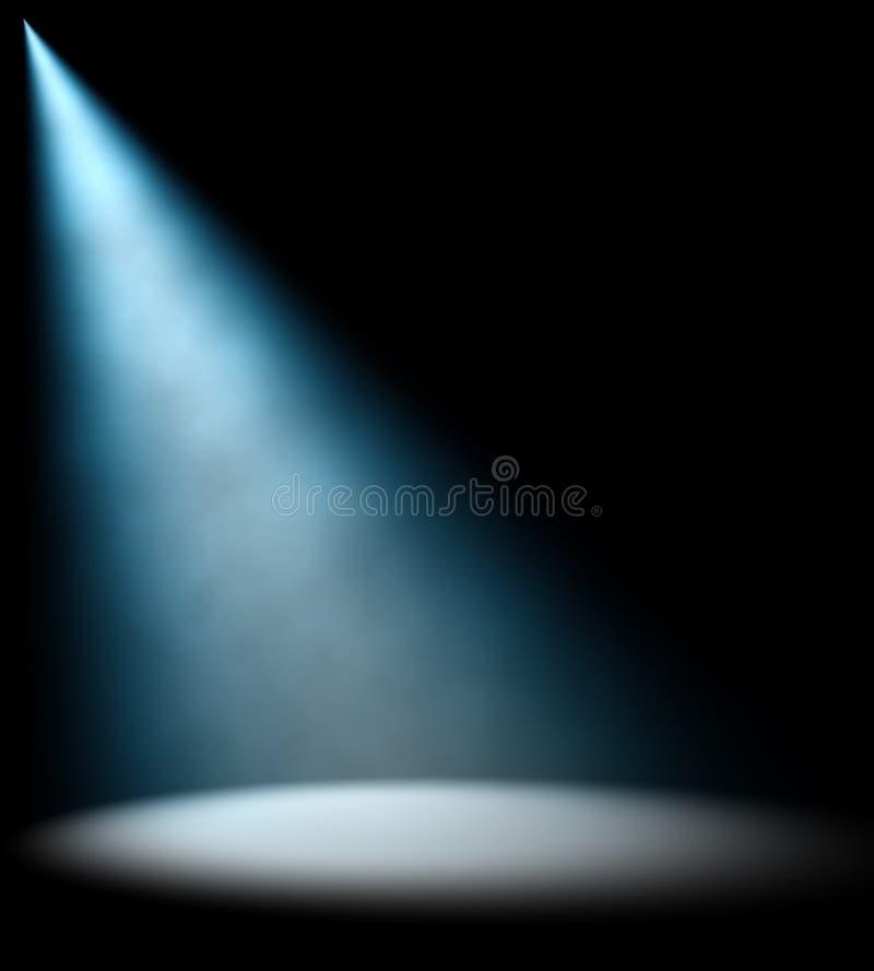 Feixe luminoso azul ilustração do vetor