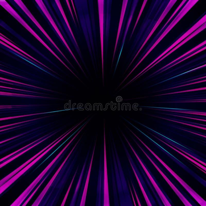 Feixes coloridos abstratos artísticos da arte finala indo clara do Wormhole do lance A ilustração royalty free