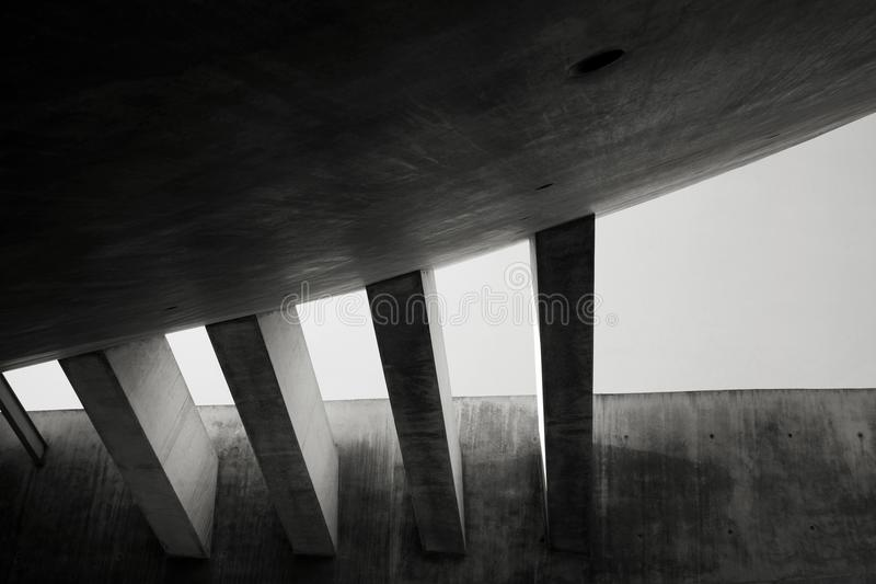 Feixes concretos em Yad Vashem foto de stock royalty free