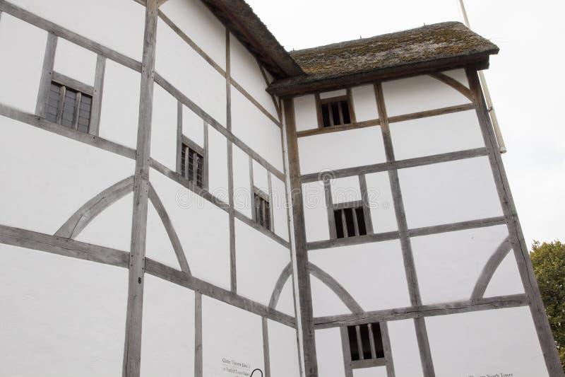 Feixes de madeira e estrutura do Shakespeares Globe Theatre, Londres, Inglaterra, Reino Unido, o 20 de maio de 2017 foto de stock royalty free