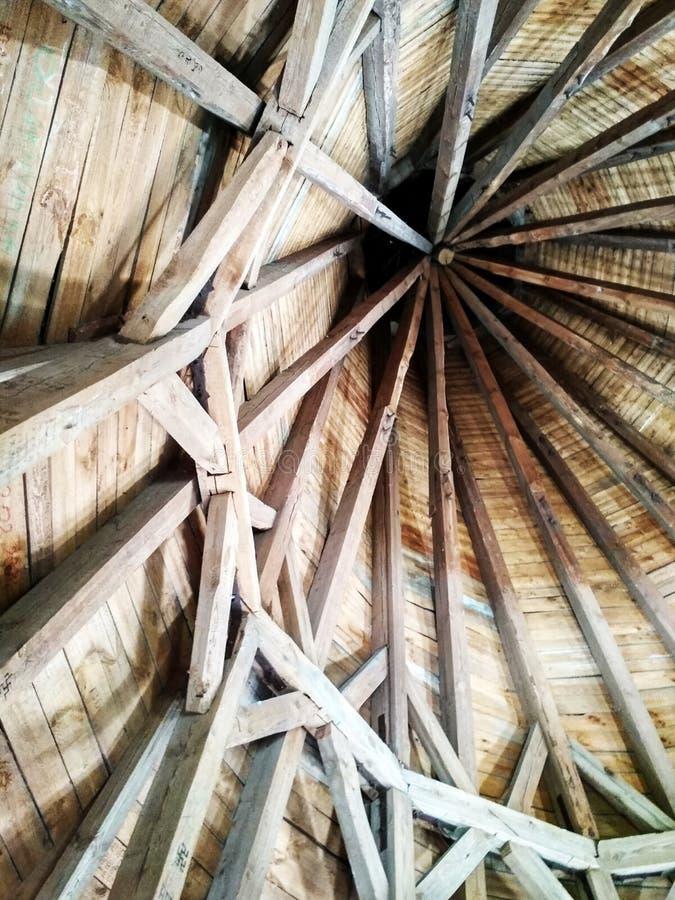 Feixes de madeira no castelo fotos de stock