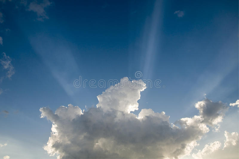 Feixes de Sun imagens de stock royalty free