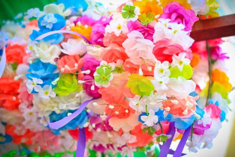 Fejka blommor royaltyfri fotografi