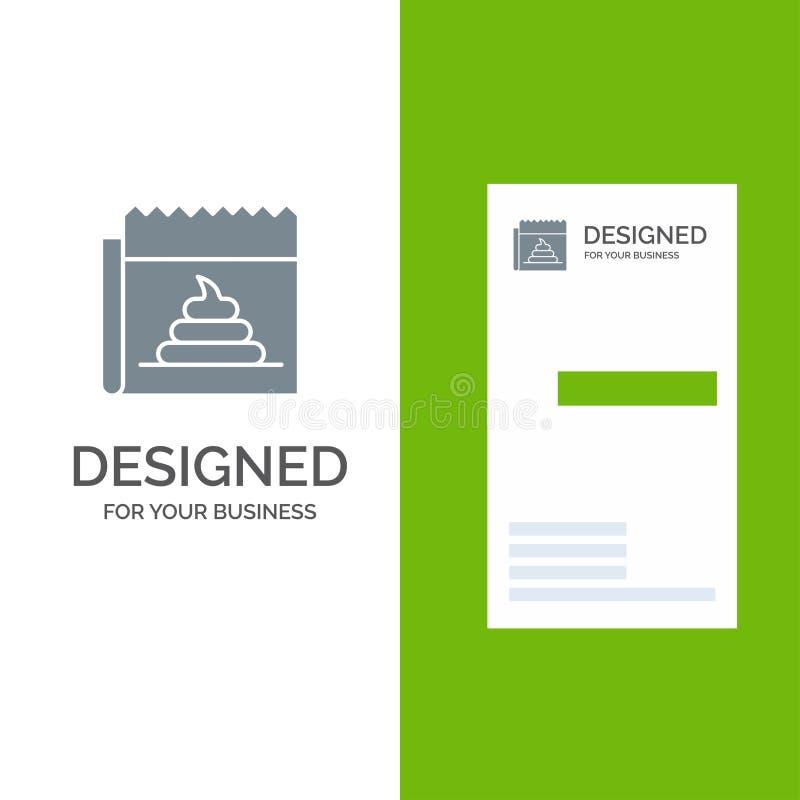 Fejka, lura, journalistik, nyheterna Grey Logo Design och mallen för affärskort, annonsera royaltyfri illustrationer