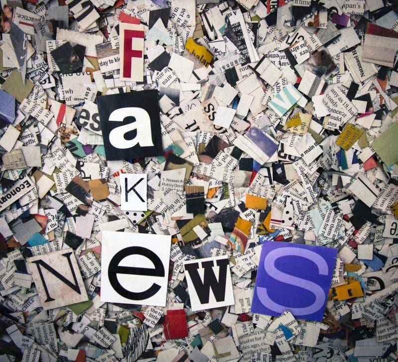 Fejka nyheterna royaltyfria bilder