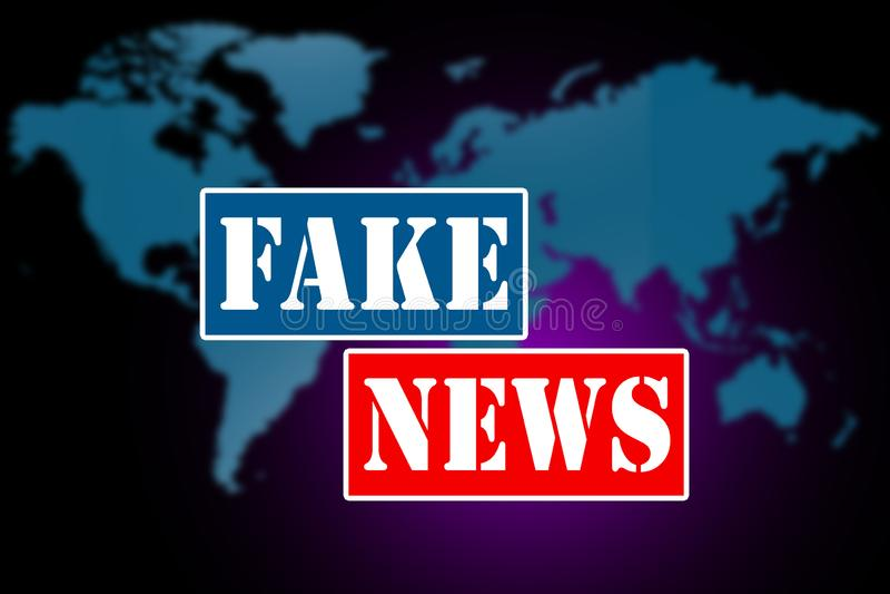 Fejka nyheterna- och felinformationbegreppet stock illustrationer