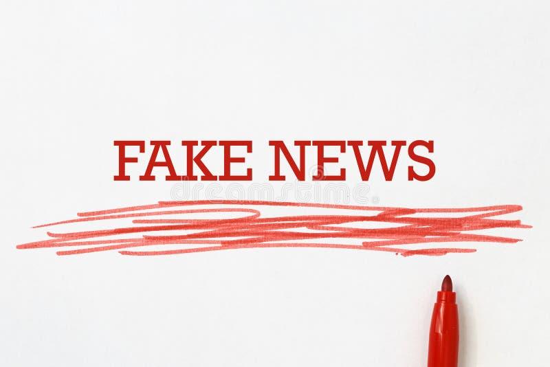Fejka nyheternadesignen arkivfoton
