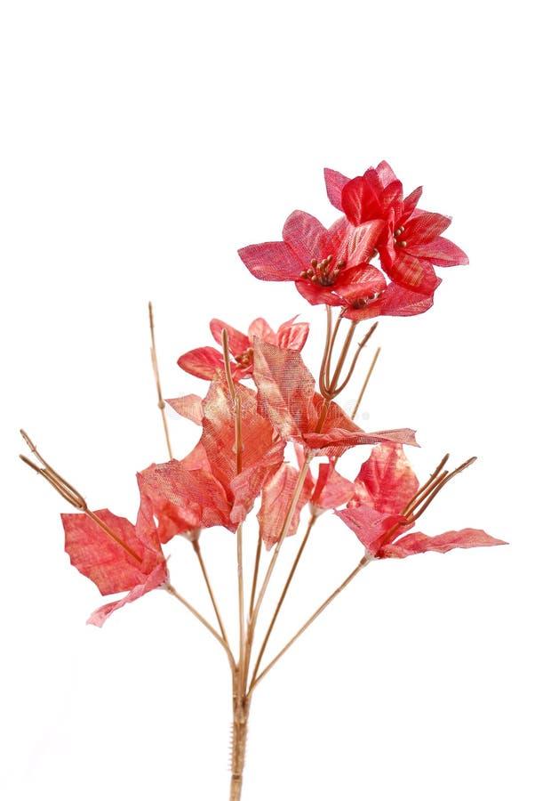 fejka röda blommor arkivbild