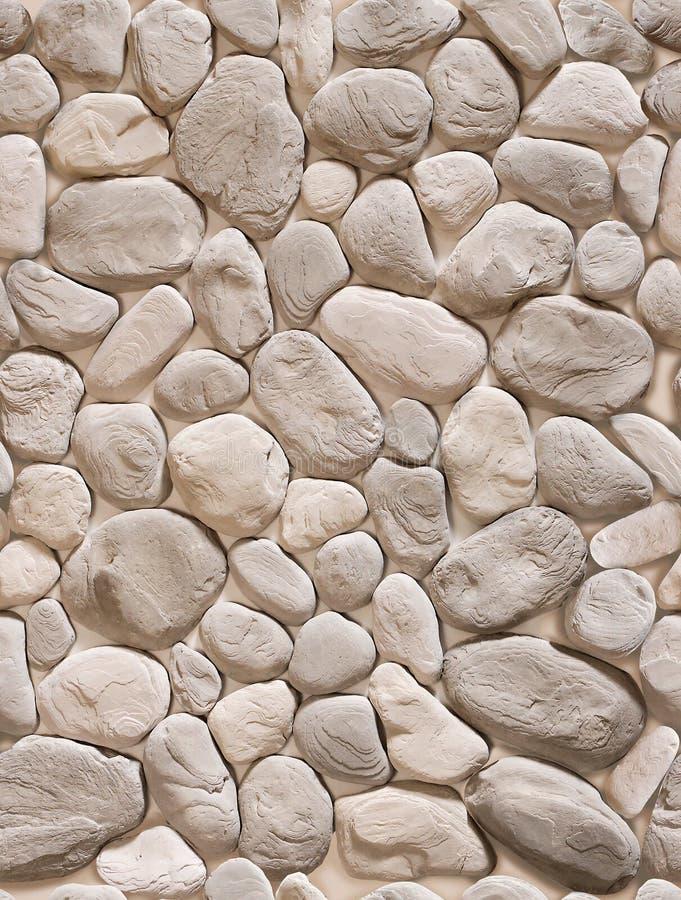 A fejkar stenen i form av en gr? kullersten av olika former royaltyfri illustrationer