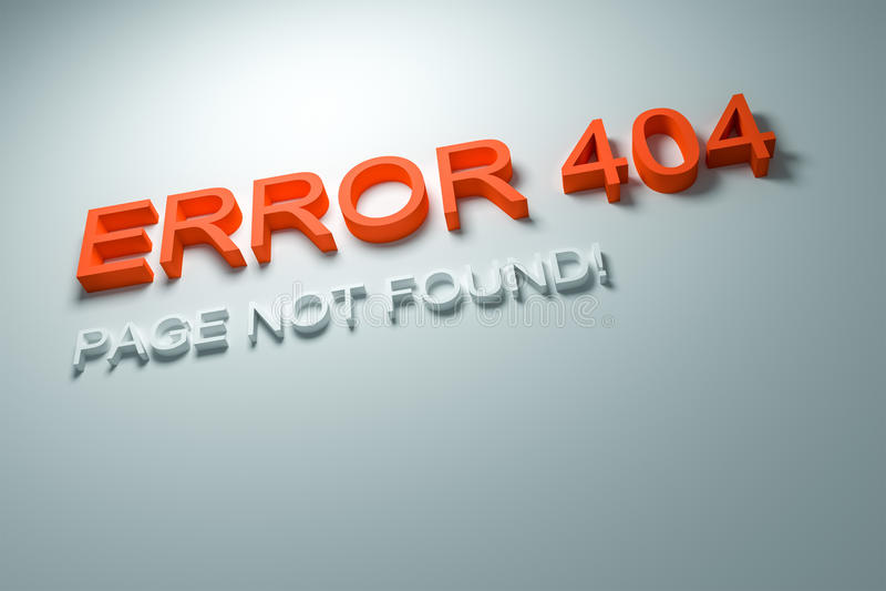fel 404 royaltyfri illustrationer