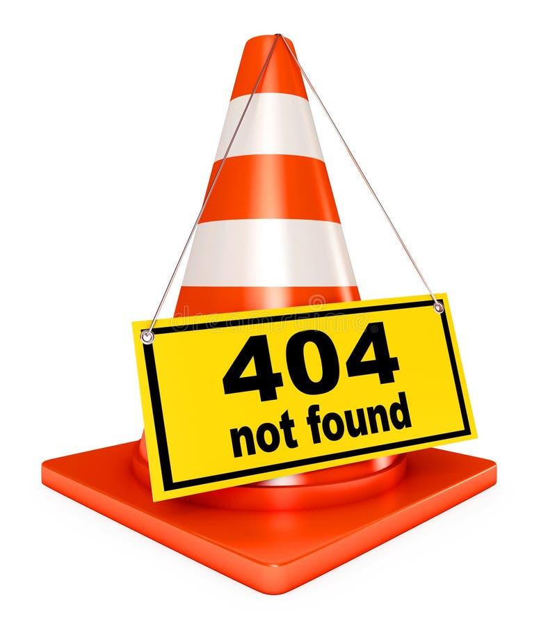 fel 404 vektor illustrationer
