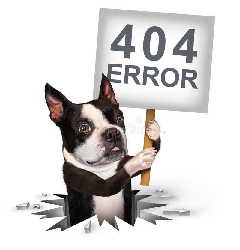 fel 404 stock illustrationer