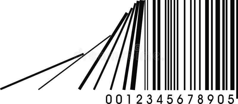 Fel barcode vektor illustrationer