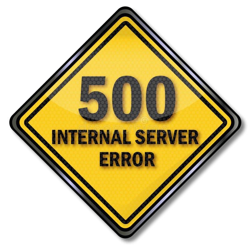 Fel för server för datortecken 500 inre vektor illustrationer