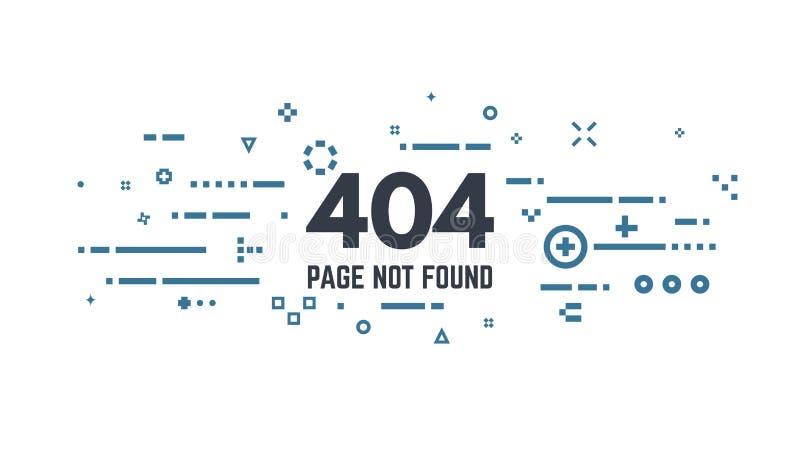 fel för 404 sida stock illustrationer