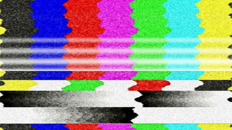 Fel för TVfärgstänger royaltyfri foto