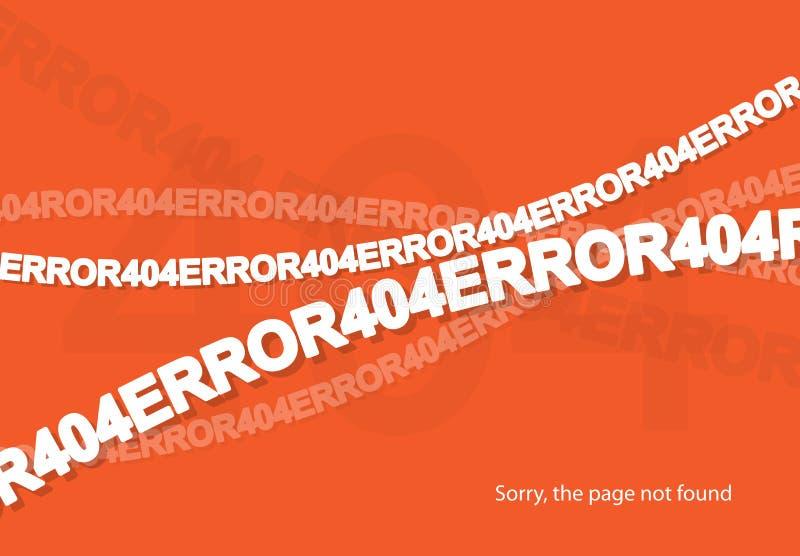 fel 404 funnen inte sida vektor illustrationer