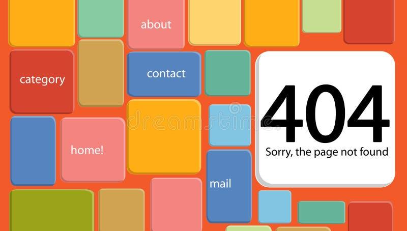 fel 404 funnen inte sida Abstrakt bakgrund med avbrottsconnec vektor illustrationer