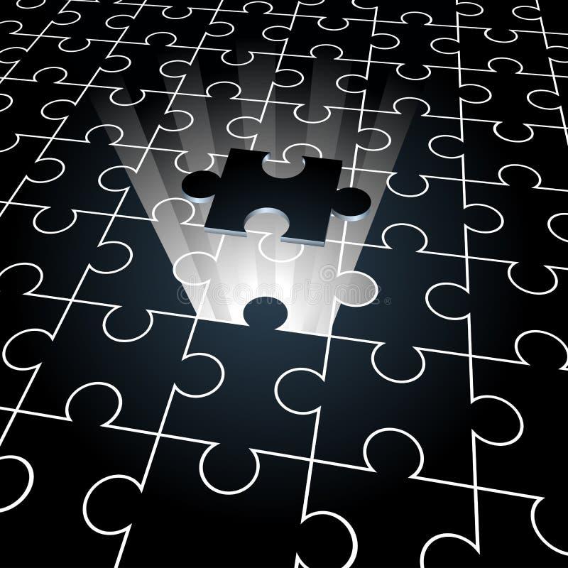 felande stycke för jigsaw royaltyfri illustrationer