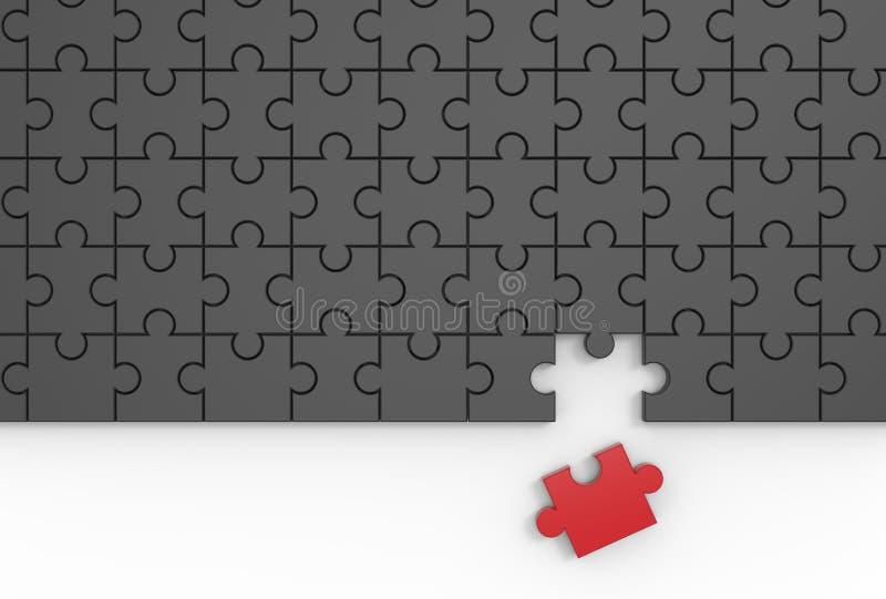 felande styckpussel för jigsaw 3D som illustrerar stock illustrationer