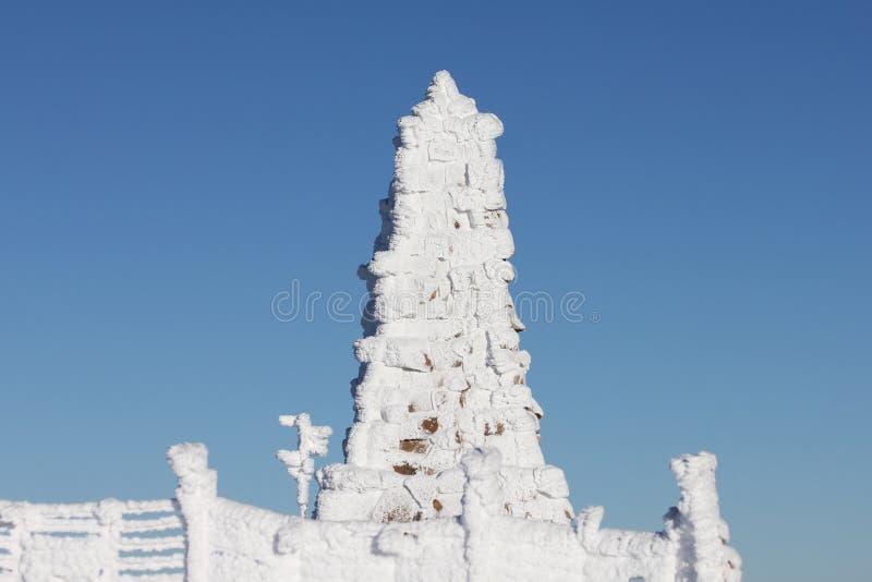 Felberg Gipfel - Bismark-Denkmal Lizenzfreies Stockfoto