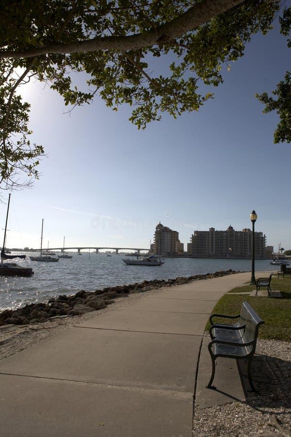 Feld Ansicht in Richtung zum Sarasota-Schacht stockbild