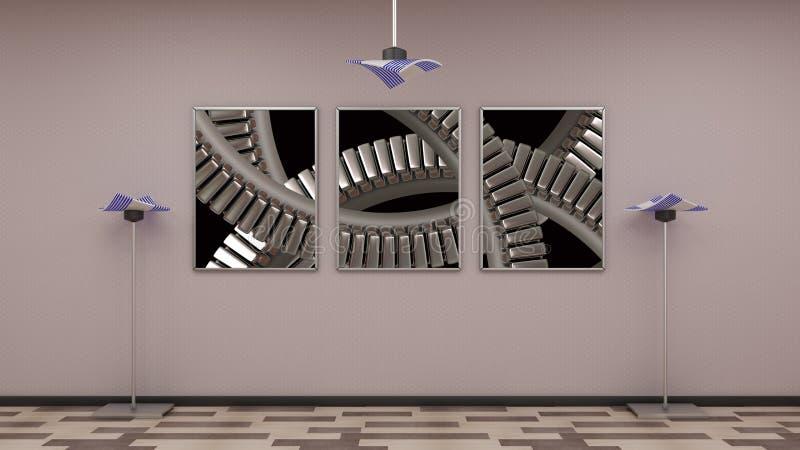 feld auf wand stock abbildung illustration von schu 64916940. Black Bedroom Furniture Sets. Home Design Ideas